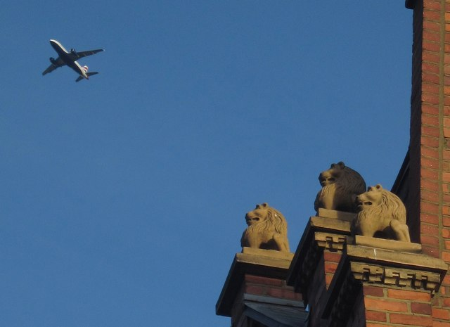 Lions and plane, Studdridge Street