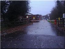 TQ1661 : Entrance to electricity sub station, Fairoak Lane by David Howard