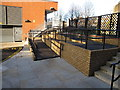 TQ2482 : Paddington Arm - ramp to towpath from Alderson Street by David Hawgood
