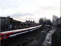 TQ2878 : Railway tracks towards Battersea by David Anstiss