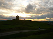 SP3952 : The Beacon, Burton Dassett Hills Country Park at dusk by Colin Park