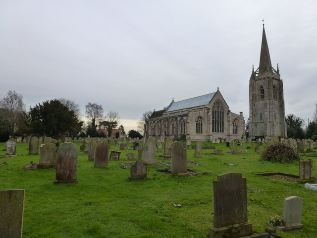 In the graveyard at Fleet, Lincolnshire
