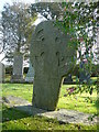 SC4279 : Ancient cross at St Lonan's Church by Colin Park