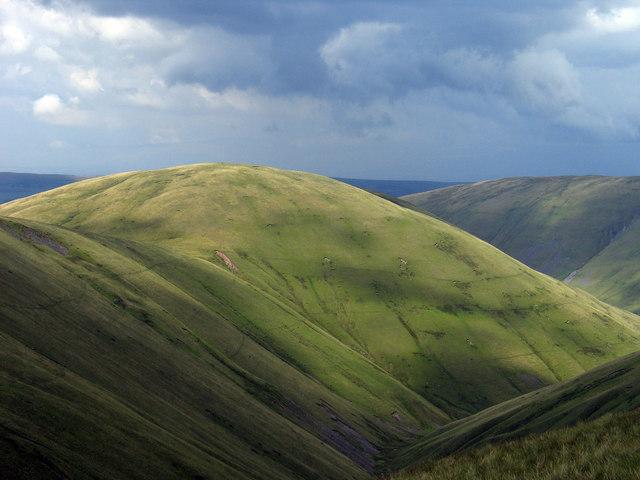 Simon's Seat through valley of West Grain