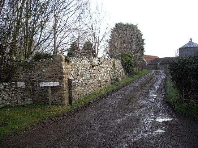 Entrance to Hawkfield Farm, Norton Hawkfield