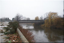 SE2833 : Disused bridge over River Aire by Rick Carn