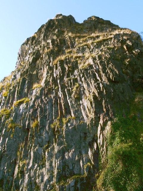 Columnar jointing at Dumbarton Rock