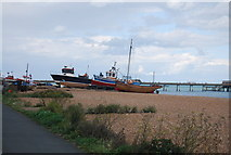 TR3752 : Boats on Deal Beach by N Chadwick