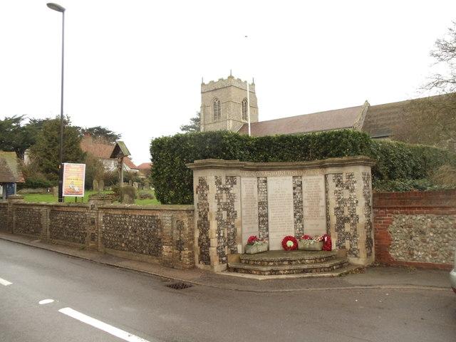 Runton War memorial