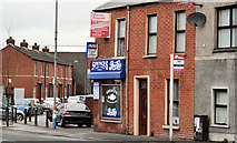 "J3573 : ""Spence's"" chippy, Belfast by Albert Bridge"