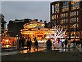 SJ8498 : Family Funfair, Piccadilly Gardens, by David Dixon