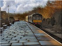 SD8022 : DMU Leaving Rawtenstall by David Dixon