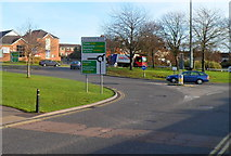 ST8558 : Roundabout at the junction of five roads, Trowbridge by Jaggery