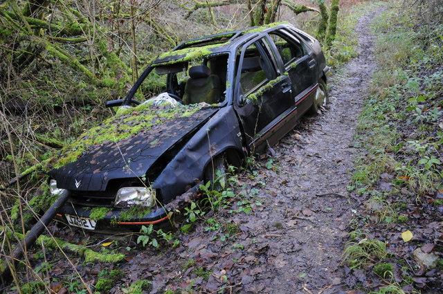 Stolen Luxury Car Crashed Abbodsford