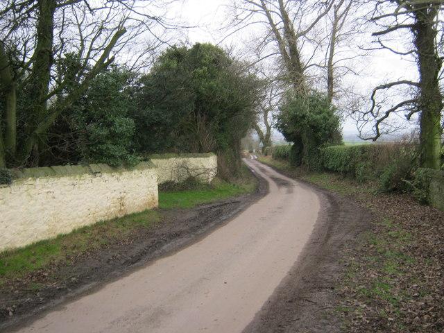 Haughton Lane passing Denton Grange East Farm