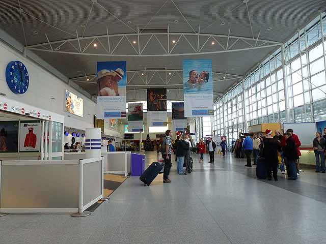 Arrivals Hall, Newcastle International Airport, Christmas 2011