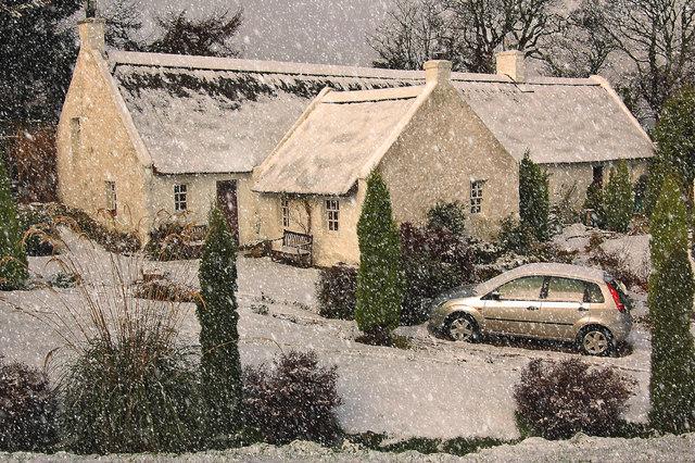 Snowy Swanston Cottage