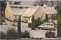 NT2467 : Snowy Swanston Cottage by Stevie Wallace