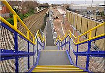 J3272 : Railway footbridge, Adelaide, Belfast by Albert Bridge