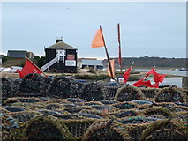 SZ1891 : Mudeford: the Black House from over the lobster pots by Chris Downer