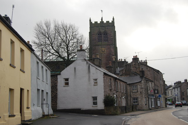 Shops and church, Kirkby Stephen