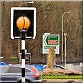 "J1487 : ""Belisha"" beacon, Antrim by Albert Bridge"
