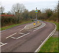 ST6088 : Traffic island in the B4461, Elberton by Jaggery