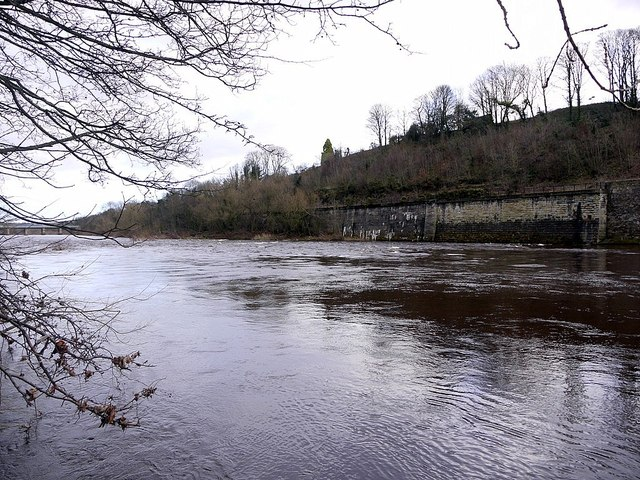 River Tyne at Wylam Scars