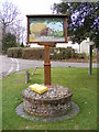 TG2218 : Hainford Village Sign by Adrian Cable