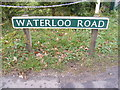 TG2219 : Waterloo Road sign by Adrian Cable