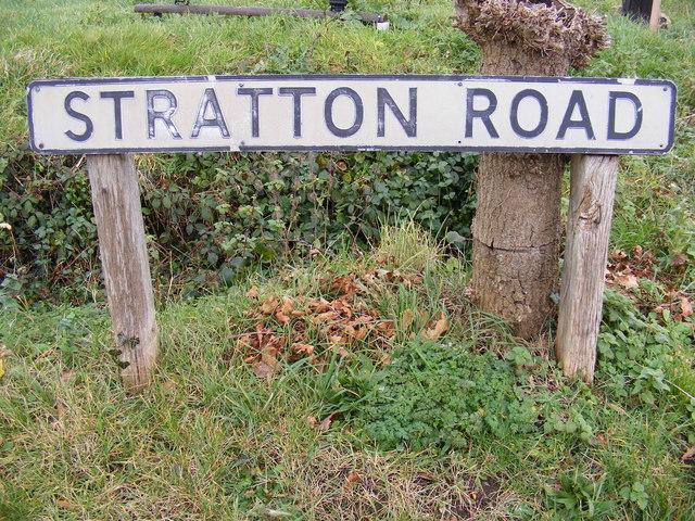 Stratton Road sign