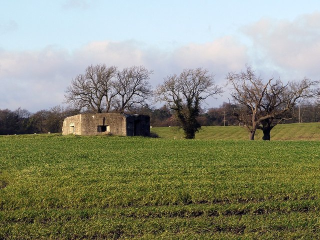 Pillbox north of Wylam village
