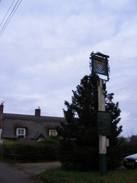 The Chequers Public House sign