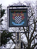 TG2219 : The Chequers Public House sign by Adrian Cable