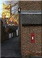 SE6132 : Wall Old School Portholme Road postbox (ref. YO8 10) by Alan Murray-Rust