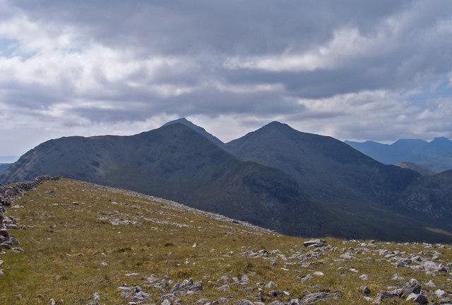 Summit ridge of Glas Bheinn Mhòr