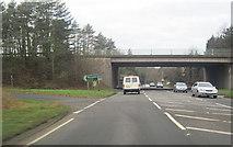 SO8463 : A449 overbridge Ombersley by John Firth