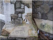 TR3751 : Ordnance Survey bolt on St Saviour's Church by Shantavira