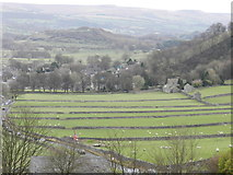 SK1482 : Fields and walls west of Castleton by Peter Barr