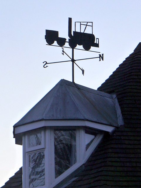 'Puffing Billy' weathervane, The Toll House, Wylam
