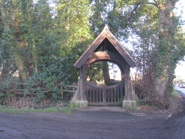 The entrance to the cemetery, Clayworth