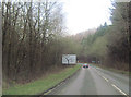 SO4086 : A489 approaching B4370 junction sign by John Firth