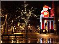 SJ8398 : Father Christmas at Albert Square by David Dixon
