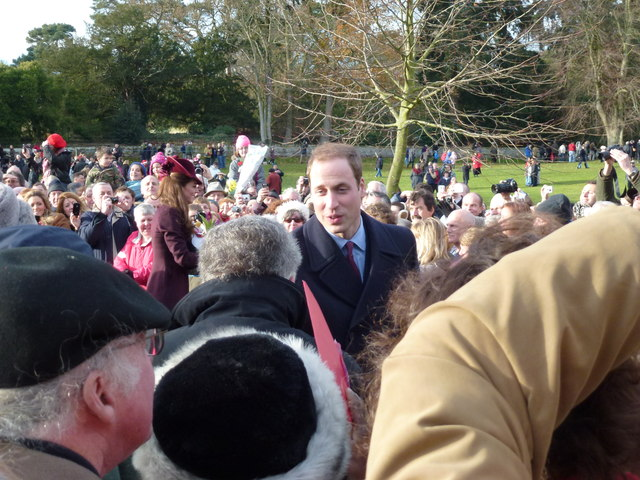 William and Kate at Sandringham - Christmas Day 2011
