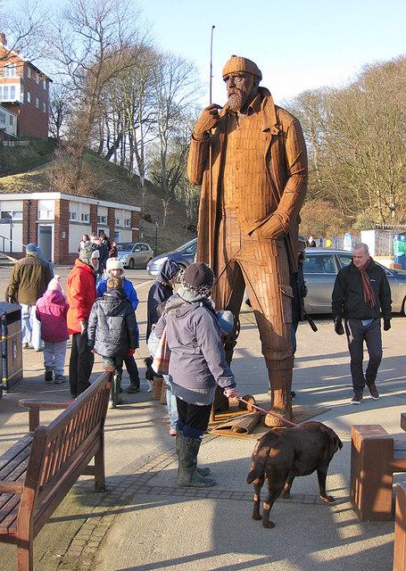 12 feet high sculpture, Coble Landing, Filey