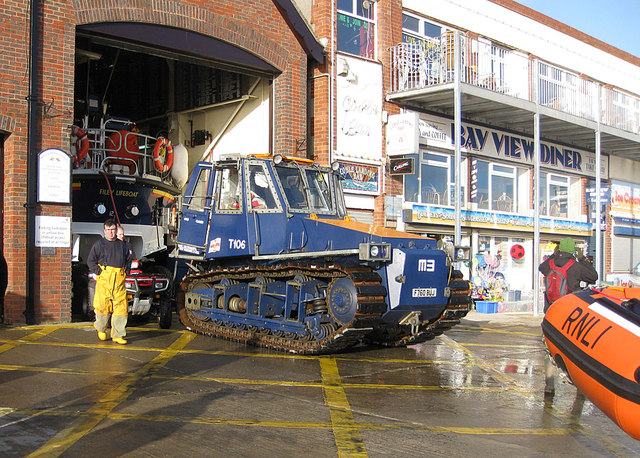 Lifeboat crew at work