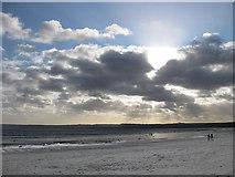 TA1281 : Filey beach, December view by Pauline E