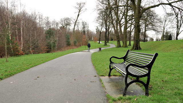Park seat and path, Belfast
