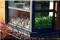 SP0584 : Empty bottles in a student kitchen, Mason Hall, University of Birmingham by Phil Champion