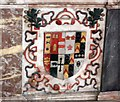 TF1884 : Coat of arms, George Heneage Memorial, Hainton church by J.Hannan-Briggs